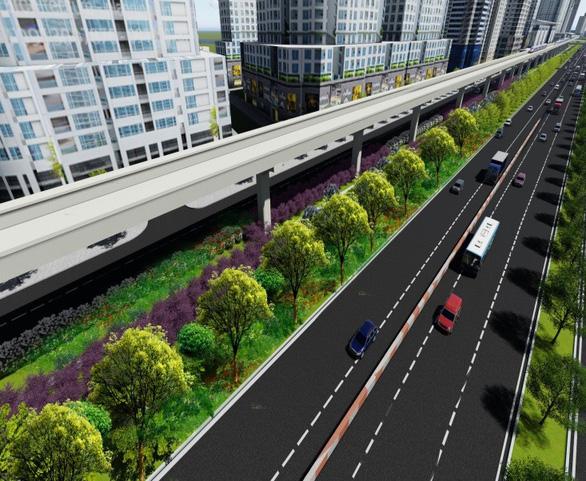 Tuyến metro số 1 sẽ được phủ xanh dọc chiều dài 14,7km - Ảnh 2.