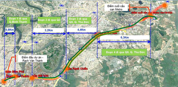 Tuyến metro số 1 sẽ được phủ xanh dọc chiều dài 14,7km - Ảnh 1.