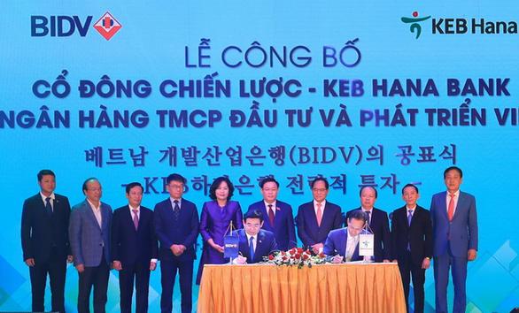 KEB Hana Bank Hàn Quốc sở hữu 15% vốn BIDV - Ảnh 1.