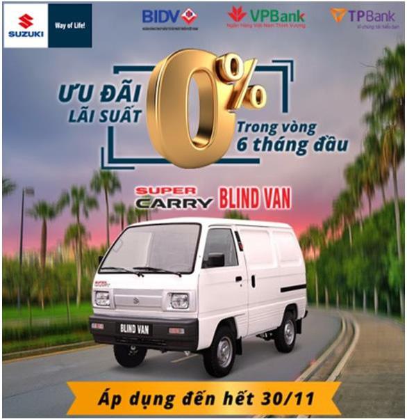 Suzuki Super Carry Blind Van - 'Nhỏ mà có võ: nay được lưu thông nội đô 24/24 - Ảnh 1.