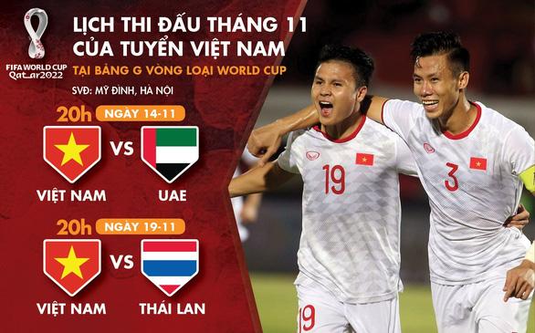 Lịch thi đấu tháng 11 của Việt Nam ở vòng loại World Cup 2022 - Ảnh 1.