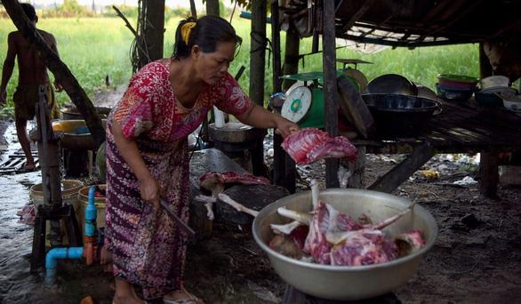 Dân Campuchia vừa mổ chó vừa van nài: Xin hãy tha thứ cho tao! - Ảnh 4.