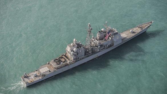 Tàu chiến Mỹ lại đi qua eo biển Đài Loan, lần thứ 9 trong năm nay - Ảnh 1.