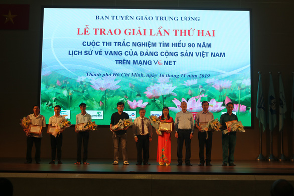 Trao giải lần 2 cuộc thi tìm hiểu 90 năm lịch sử vẻ vang của Đảng Cộng sản Việt Nam - Ảnh 1.