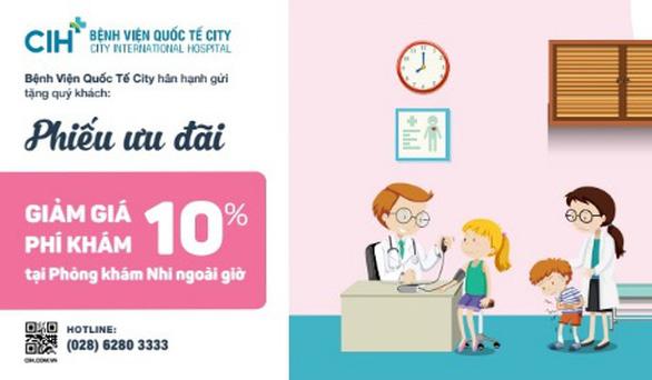 Bệnh viện Quốc Tế City khai trương phòng khám nhi ngoài giờ - Ảnh 2.