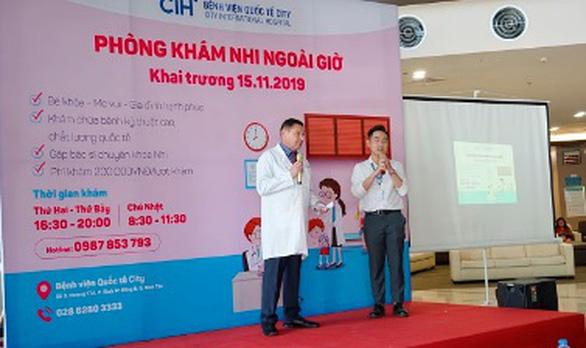 Bệnh viện Quốc Tế City khai trương phòng khám nhi ngoài giờ - Ảnh 3.