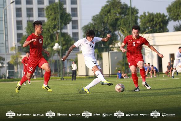 U22 Việt Nam hòa Myanmar 2-2 trước khi dự SEA Games 2019 - Ảnh 1.