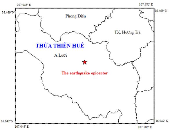 A Lưới có động đất, nhiều người dân ở TP Huế  cảm nhận được - Ảnh 1.