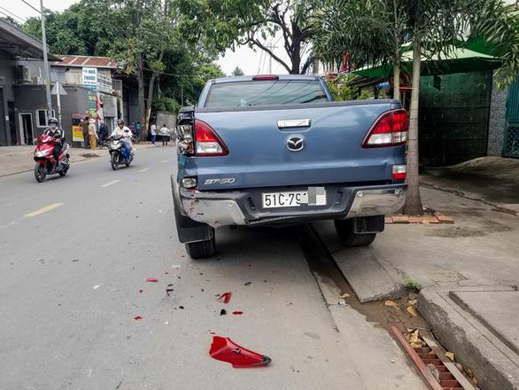Tài xế quên chìa khóa, xe bị trộm, gây tai nạn liên hoàn - Ảnh 3.