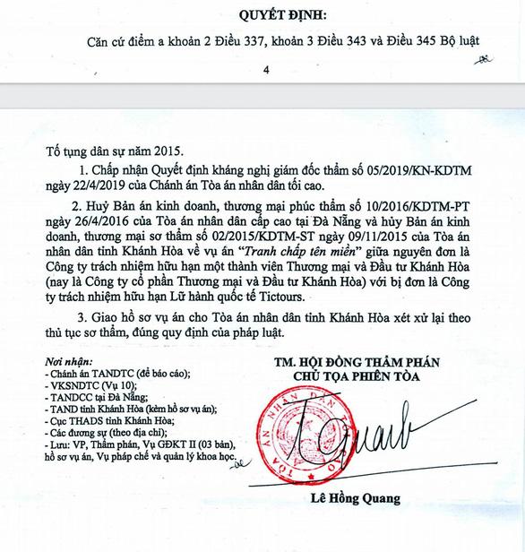 Hủy 2 bản án, xử lại từ đầu vụ tranh chấp tên miền tictours.vn sau 4 năm tranh cãi - Ảnh 1.