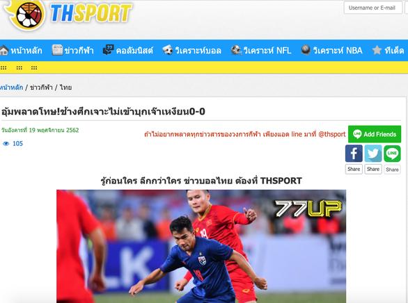 Báo Thái: Thái Lan thất bại khi không thể có 3 điểm ở Việt Nam - Ảnh 1.