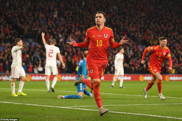 Ramsey tỏa sáng, Xứ Wales đoạt vé dự Euro 2020 - Ảnh 1.