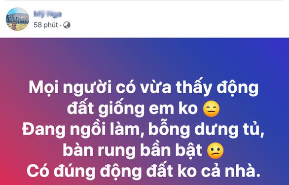 Đồ đạc, nhà cửa rung lắc, người dân Nghệ An nháo nhào trên Facebook - Ảnh 2.