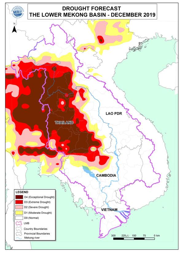 Sông Mekong sẽ cạn nước nghiêm trọng trong tháng sau - Ảnh 2.