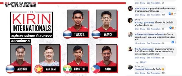 Văn Lâm bị ném đá, CĐV Thái Lan của Muangthong United ra tay bảo vệ - Ảnh 1.