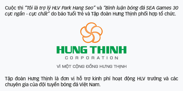 Mời bạn đọc tham gia cuộc thi Tôi là trợ lý HLV Park Hang Seo - Ảnh 2.