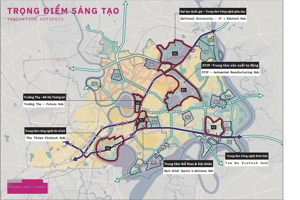Dự kiến 2021, TP.HCM triển khai Khu đô thị sáng tạo phía Đông - Ảnh 1.