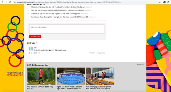 Mời bạn đọc tham gia bình luận trận U22 Việt Nam - Brunei để nhận thưởng lớn - Ảnh 2.