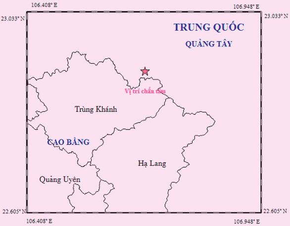 Thêm trận động đất gần Cao Bằng - Ảnh 1.