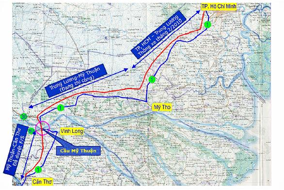 Giữa tháng 12-2019 khởi công đường dẫn cầu Mỹ Thuận 2 - Ảnh 1.