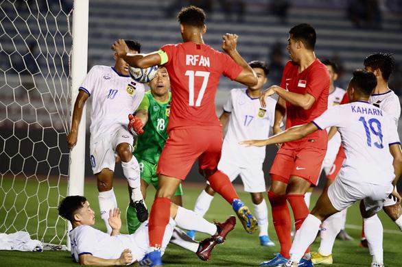 Bỏ nhiều cơ hội, Singapore chia điểm với Lào - Ảnh 1.