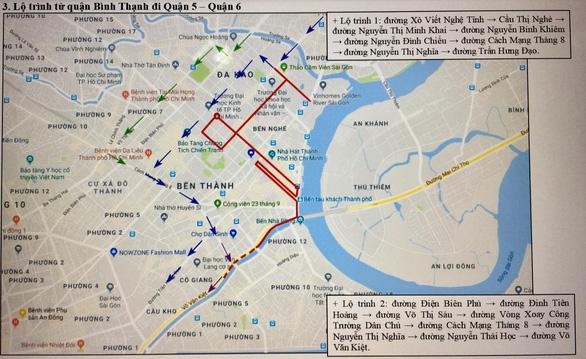 Cấm xe ra vào 8 tuyến đường lớn phục vụ giải Marathon quốc tế TP.HCM 2019 - Ảnh 4.