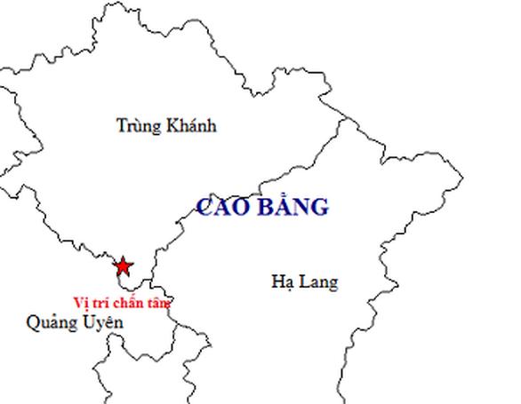 Tiếp tục xảy ra động đất ở Trùng Khánh, Cao Bằng - Ảnh 1.