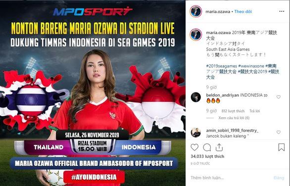 Thì ra Maria Ozawa coi SEA Games để quảng cáo cá cược bóng đá - Ảnh 2.