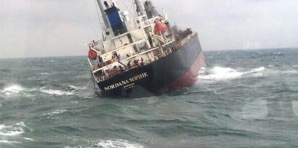 Cứu thành công 18 thuyền viên trên tàu Thái Lan gặp nạn - Ảnh 1.