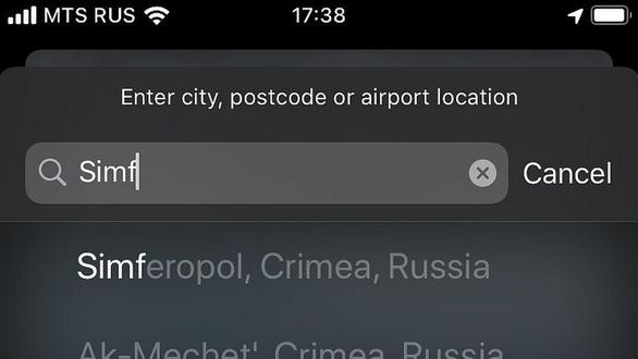 Apple thay đổi bản đồ Crimea theo yêu cầu của Nga - Ảnh 2.