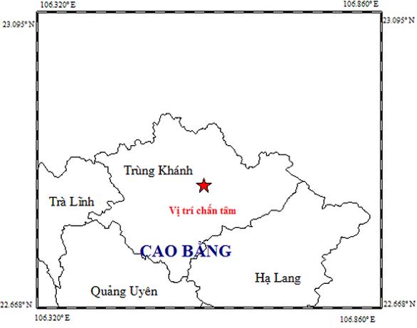 Động đất 4,7 độ Richter vừa xảy ra tại Cao Bằng vào sáng nay 28-11 - Ảnh 1.