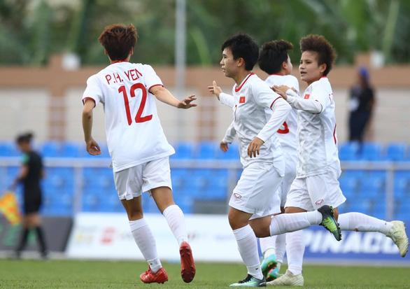Nữ Việt Nam vào bán kết sau chiến thắng 6-0 trước Indonesia - Ảnh 1.