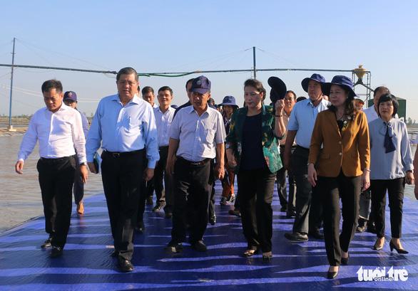 Chủ tịch Quốc hội thăm vùng nuôi cá tra công nghệ cao lớn nhất An Giang - Ảnh 1.