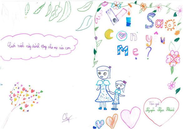 Cô bé lớp 3 làm sách bằng cả trái tim tặng mẹ - Ảnh 1.