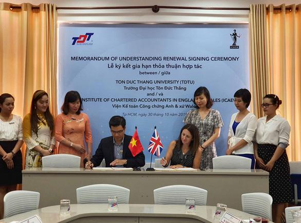 ICAEW tăng cường quan hệ hợp tác với Đại học Tôn Đức Thắng - Ảnh 1.