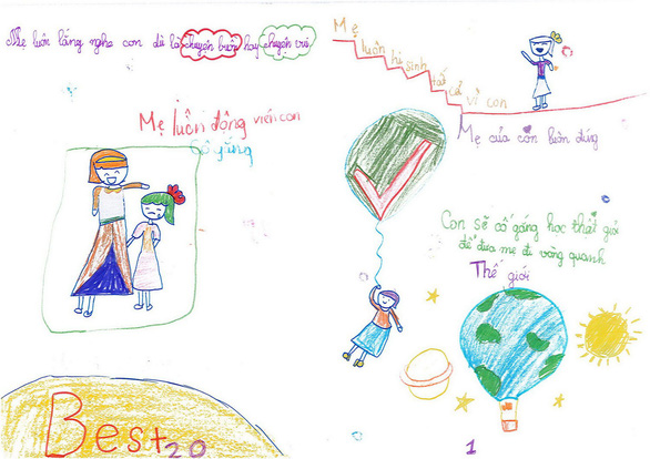 Cô bé lớp 3 làm sách bằng cả trái tim tặng mẹ - Ảnh 4.
