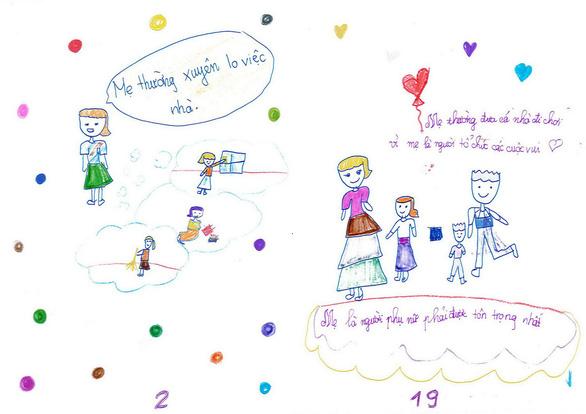 Cô bé lớp 3 làm sách bằng cả trái tim tặng mẹ - Ảnh 5.