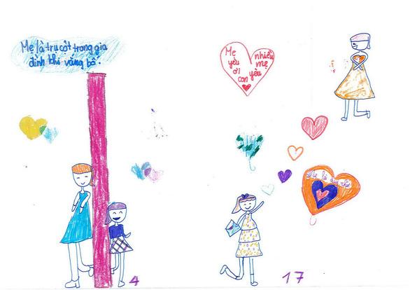 Cô bé lớp 3 làm sách bằng cả trái tim tặng mẹ - Ảnh 3.