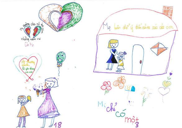 Cô bé lớp 3 làm sách bằng cả trái tim tặng mẹ - Ảnh 6.