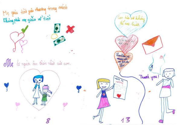 Cô bé lớp 3 làm sách bằng cả trái tim tặng mẹ - Ảnh 7.