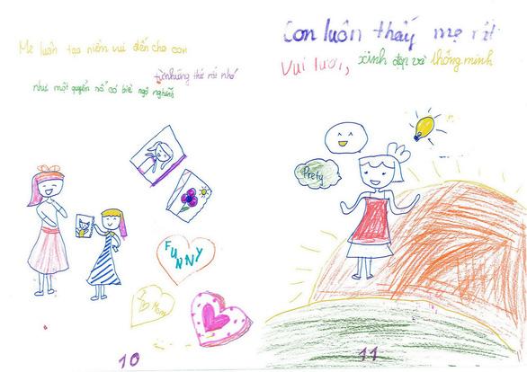 Cô bé lớp 3 làm sách bằng cả trái tim tặng mẹ - Ảnh 8.