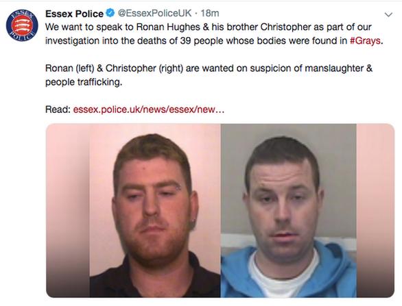 Vụ 39 thi thể ở Anh: Băng đảng săn lùng, không cho 2 nghi phạm đầu thú - Ảnh 1.