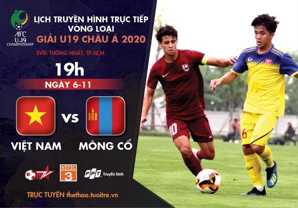 Lịch trực tiếp U19 Việt Nam gặp Mông Cổ: Chờ 3 điểm đầu tay - Ảnh 1.