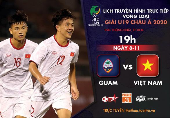 Lịch trực tiếp U19 Việt Nam - Guam: 3 điểm và hơn thế nữa! - Ảnh 1.