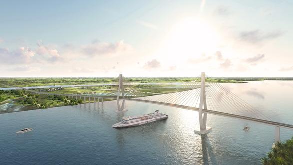Đầu tư xây cầu Rạch Miễu 2 sẽ gần 5.000 tỉ đồng - Ảnh 1.