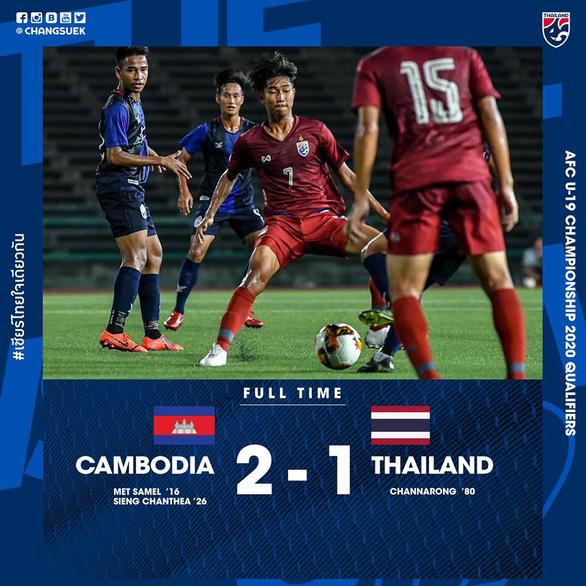 U19 Thái Lan thua sốc trước Campuchia - Ảnh 2.