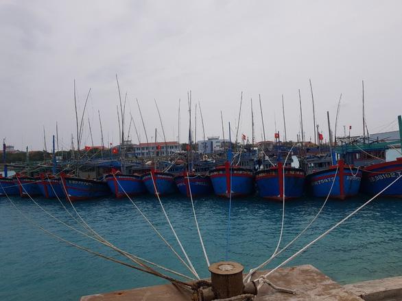 Ngư dân vào các âu tàu ở Trường Sa để tránh bão số 6 - Ảnh 2.