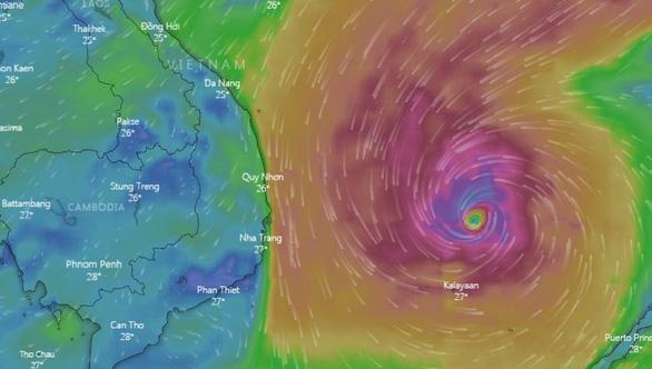 Bão cách Song Tử Tây 110km, miền Trung, Tây Nguyên mưa rất lớn từ đêm nay - Ảnh 2.