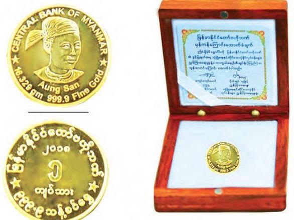 Myanmar phát hành tiền xu bằng vàng mới - Ảnh 1.