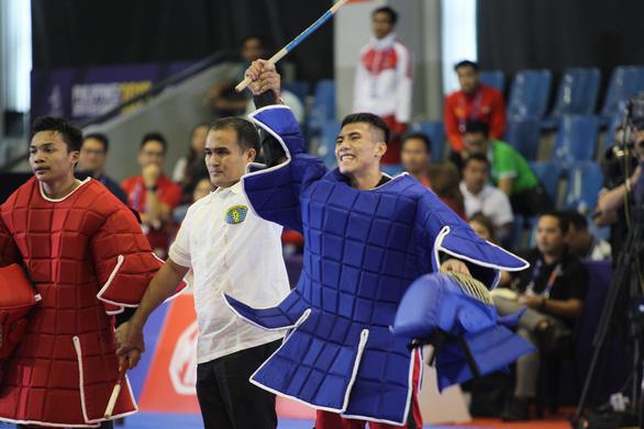 Không thắng trận nào, VĐV võ gậy vẫn giành huy chương SEA Games - Ảnh 1.